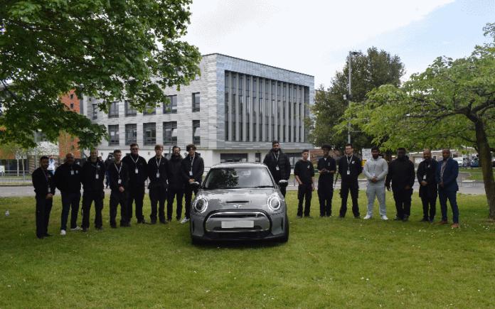 Uxbridge College students with Mini Electric   Hillingdon Today