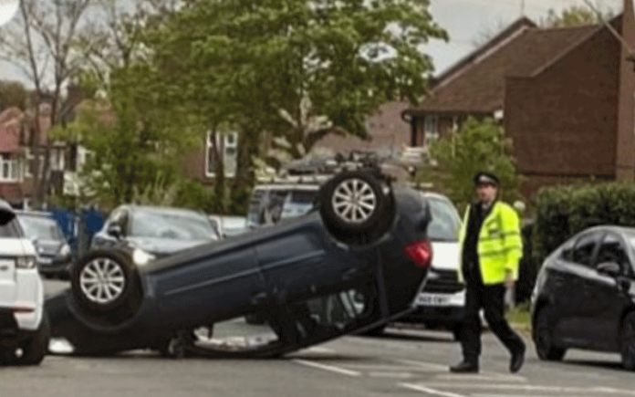 Car on roof | Hillingdon Today