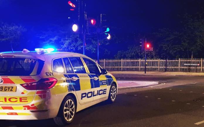 Police car at night   Hillingdon Today