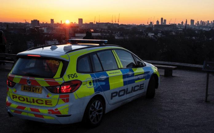 Metropolitan Police car at sunset   Hillingdon Today